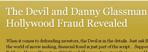 image file for hollywood film fraud novel devil and danny glassman
